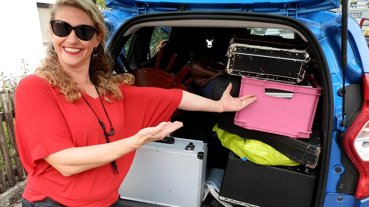Auto fertig gepackt - alles passt rein